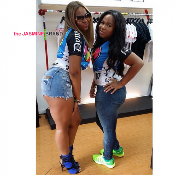 ashanti and sister shopping the jasmine brand