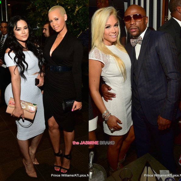 bad medina floyd mayweather emily b amber rose toast to young hollywood the jasmine brand