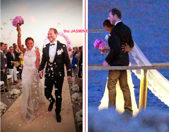bride and groom celebrity wedding photos rapper eve marries maximillion cooper in ibiza 2014 the jasmine brand