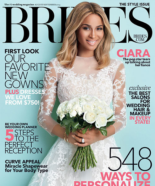 Ciara Covers BRIDES Magazine: For my wedding, I'm doing elegance with edge.