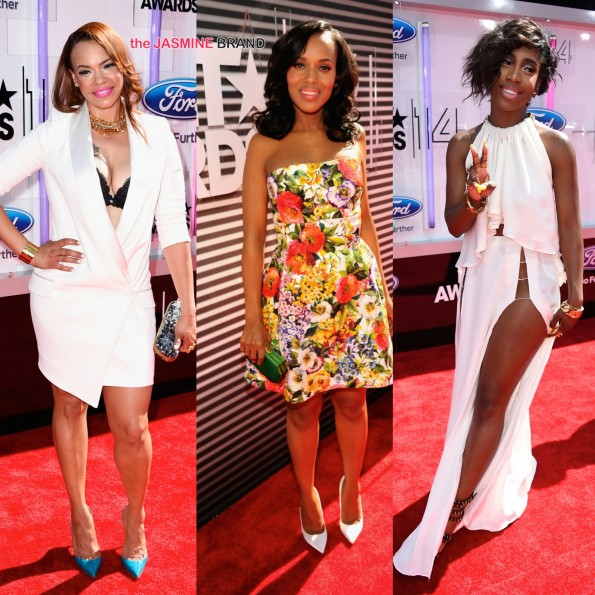 faith evans kerry washington sevyn streeter bet awards 2014 the jasmine brand