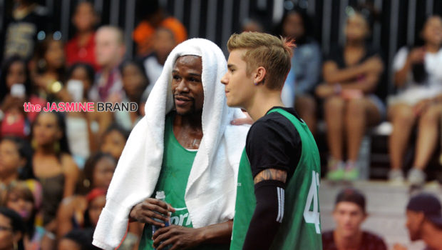 [Photos] Justin Bieber, Chris Brown, Floyd Mayweather & Terrell Owens Play In BETs Celebrity Basketball Game