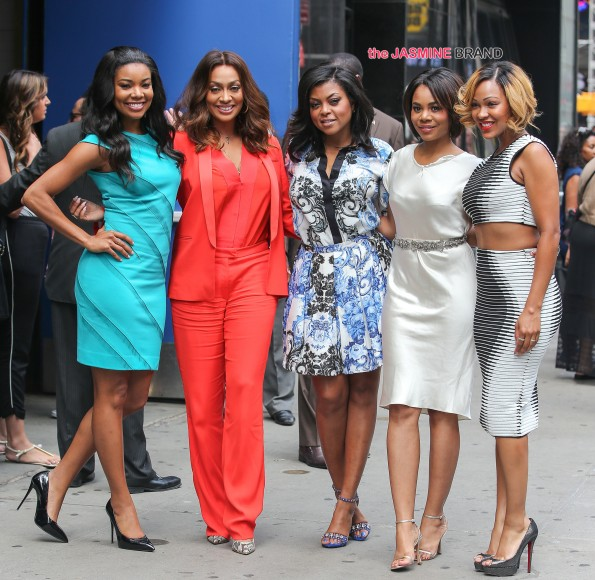 Gabrielle Union, La La Anthony, Taraji P. Henson, Regina Hall and Meagan Good seen outside the Good Morning America Show in New York City
