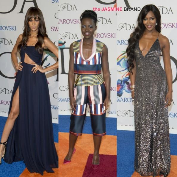 joan smalls-lupita nyongo-naomi campbell-cfda awards 2014 red carpet-the jasmine brand