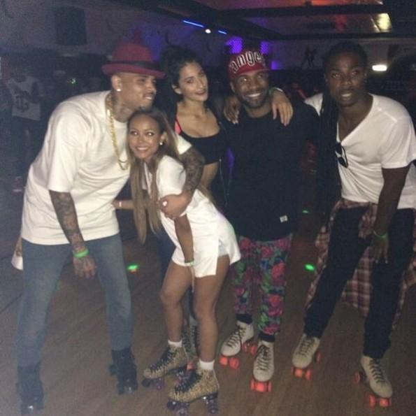 karrueche chris brown skating party the jasmine brand