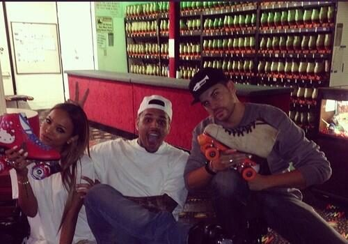 Chris Brown Hosts Skating Party: Karrueche, Kevin McCall & TeamBreezy Fans Attend