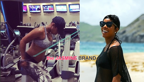 [Photos] Kelly Rowland Keeps Up Intense Exercise Regimen During Pregnancy