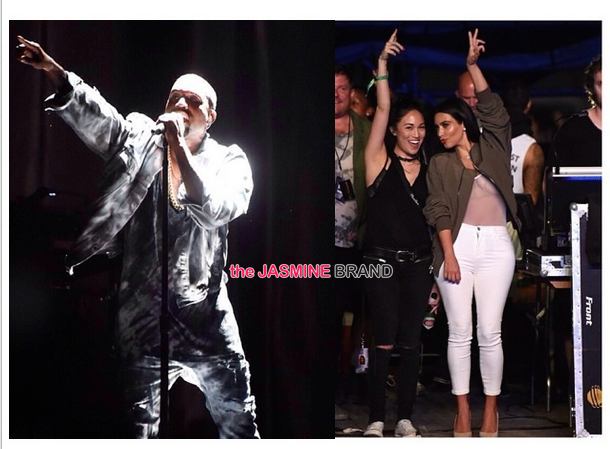 Newly Married Kanye West Takes Bonnaroo, With Kim Kardashian Playing the Background