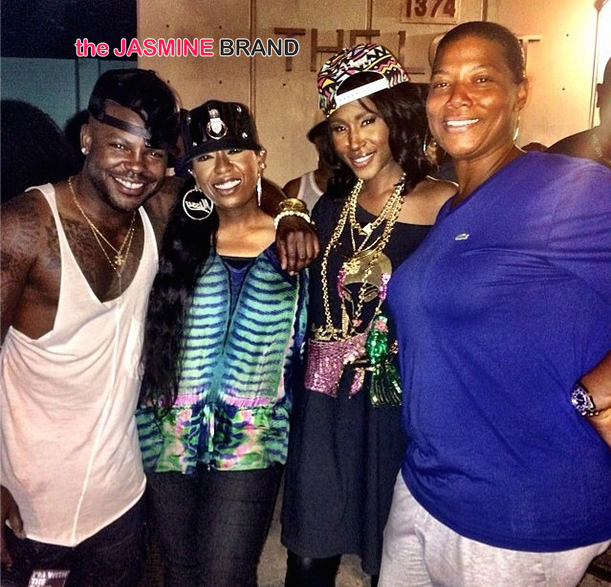 [Photos] Missy Elliott & Queen Latifah Spotted At Singer Tweet's Concert