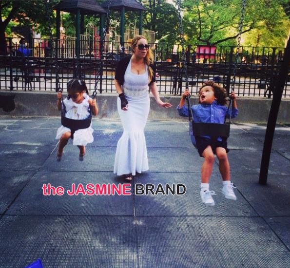 mariah carey-swings with the kids-the jasmine brand