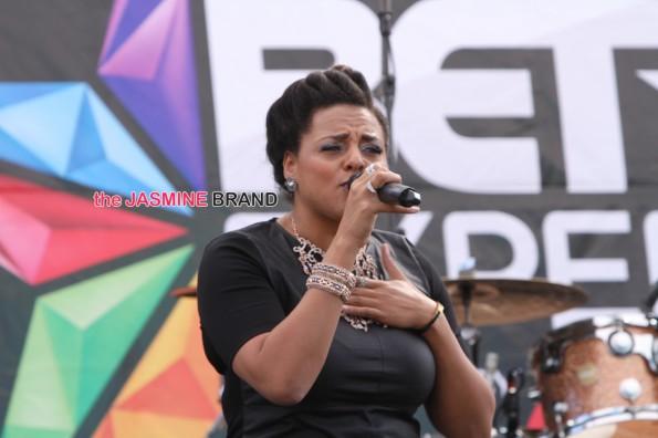 marsha ambrosius on stage BET Music Matters BET Experience Baldwin Hills 2014 the jasmine brand