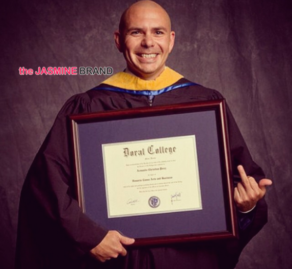 middle finger and an honorary degree pitbull the jasmine brand
