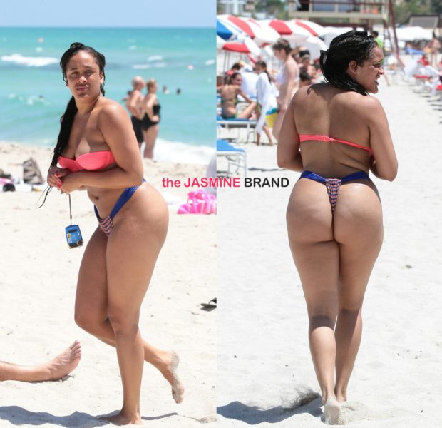 [Stop & Stare] Reality Star Natalie Nunn Rocks G String For Onlookers