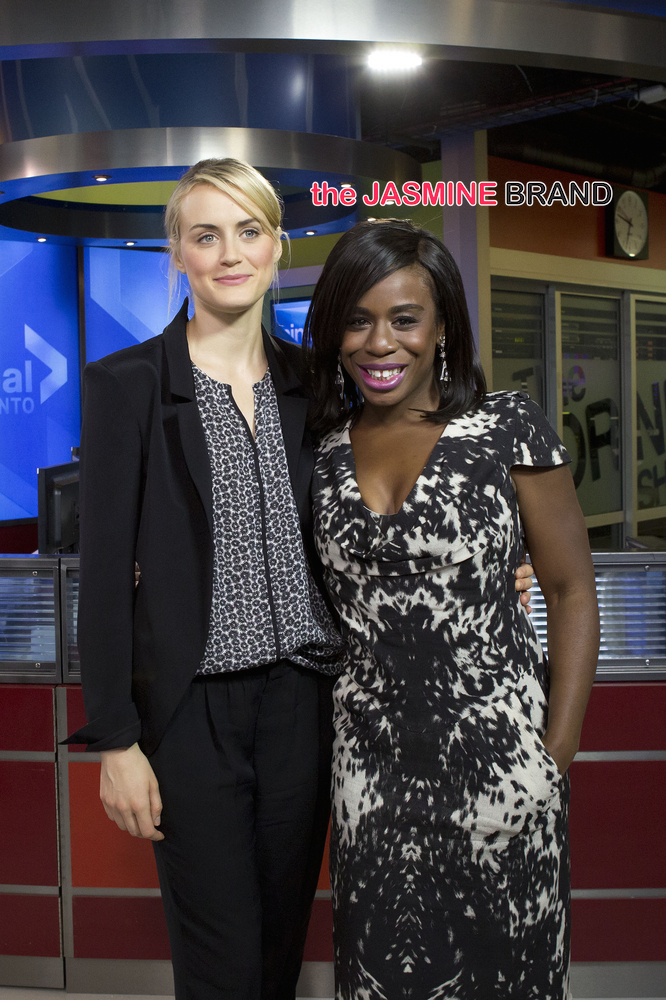 Taylor Schilling and Uzo Aduba Visit The Morning Show in Toronto on June 16, 2014