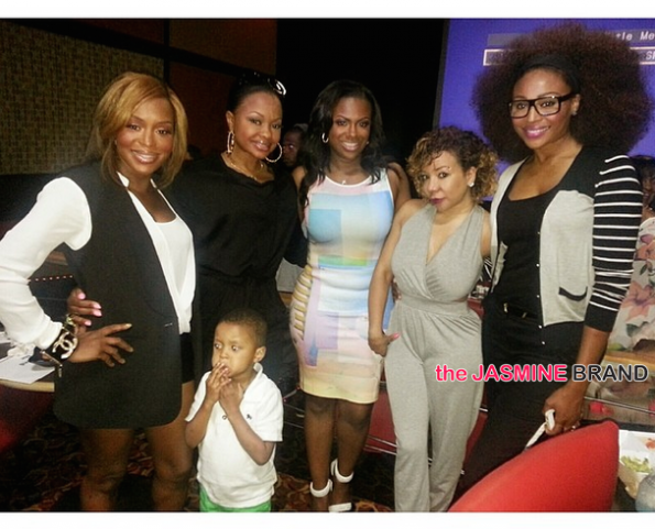 quad webb lunceford-phaedra parks-tameka tiny cottles-cynthia bailey-kandi hosts wedding special viewing party 2014-the jasmine brand