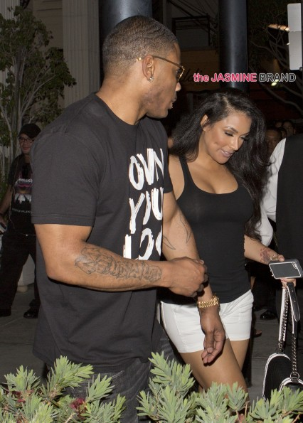 Nelly was seen leaving Mastros' Steakhouse holding hands with boxer Floyd Mayweathers ex-fiancee Shantel Jackson in Beverly Hills, CA