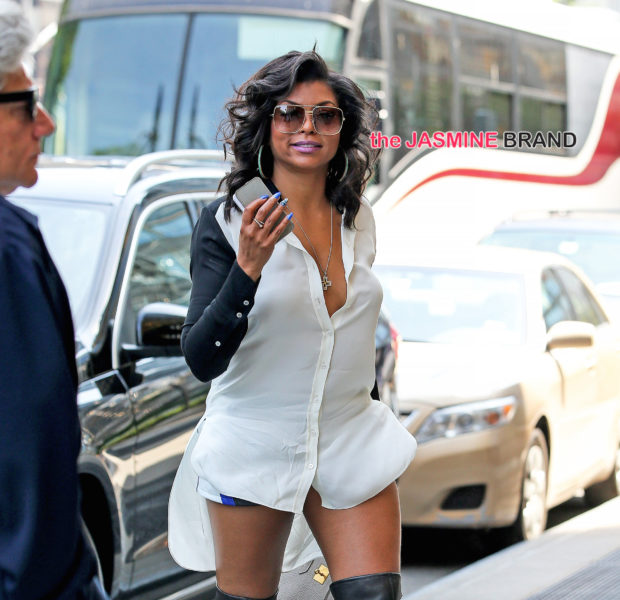 Celebrity Outfit of the Day: Taraji P. Henson In Giuseppie, Kim Kardashian Rocks Balmain, Porsha Williams Sports Fendi + Brandi Maxielle Wears Fine A** Girls