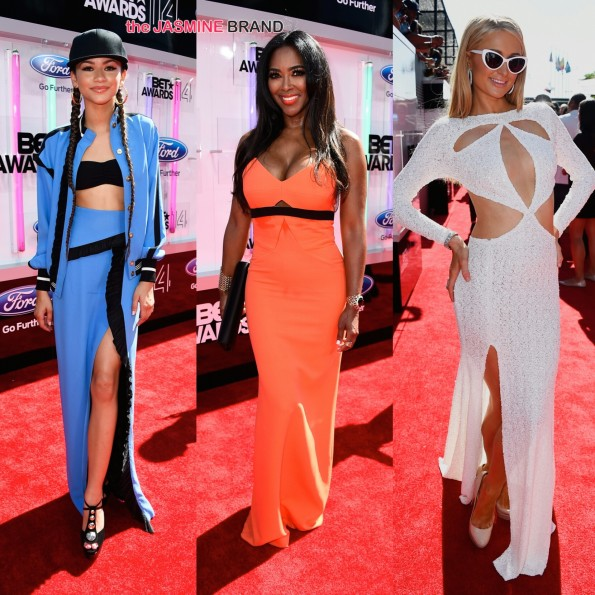 zendaya kenya moore and paris hilton bet awards 2014 red carpet the jasmine brand