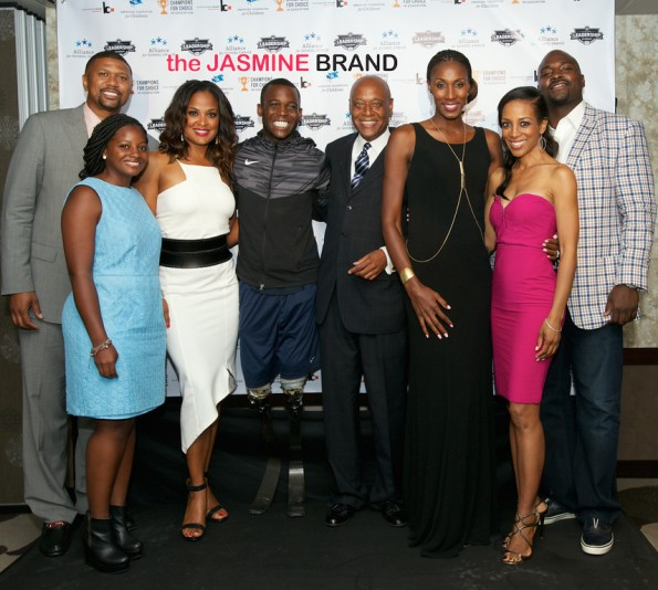 3rd annual Champions for Choice American Federation for Children 2014 the jasmine brand Jalen Rose, Laila Ali, Blake Leeper, Kevin Chavous, Tracey Edmonds, Shaun Robinson, Scholarship Recepient