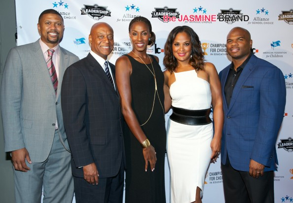 3rd annual Champions for Choice American Federation for Children 2014 the jasmine brandJalen Rose, Kevin Chavous, Lisa Leslie, Laila Ali, Curtis Conway