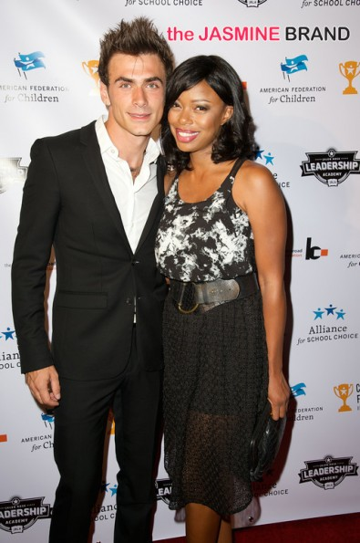 Actress Jill Marie Jones and boyfriend 3rd annual Champions for Choice American Federation for Children 2014 the jasmine brand