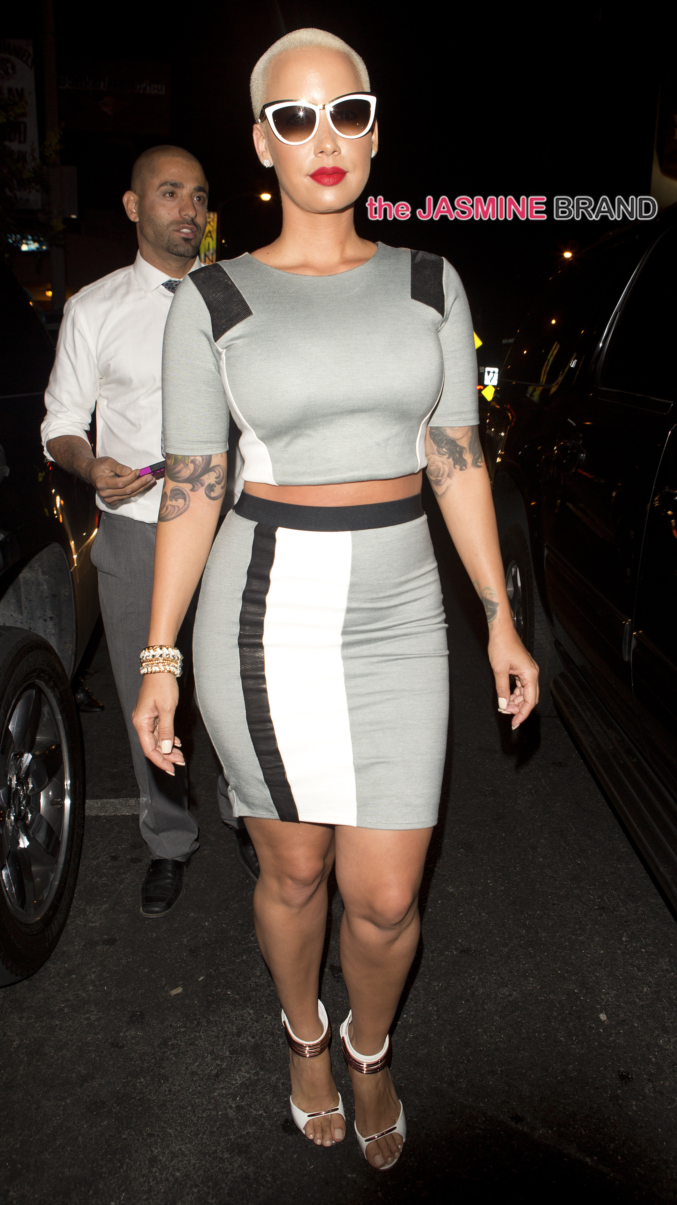 Amber Rose was seen leaving '1oak' Night Club in West Hollywood, CA