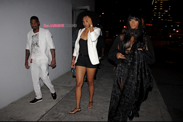 Joseline Hernandez and Stevie J attend Greygoose launch for new flavored vodka Le Melon the jasmine brand