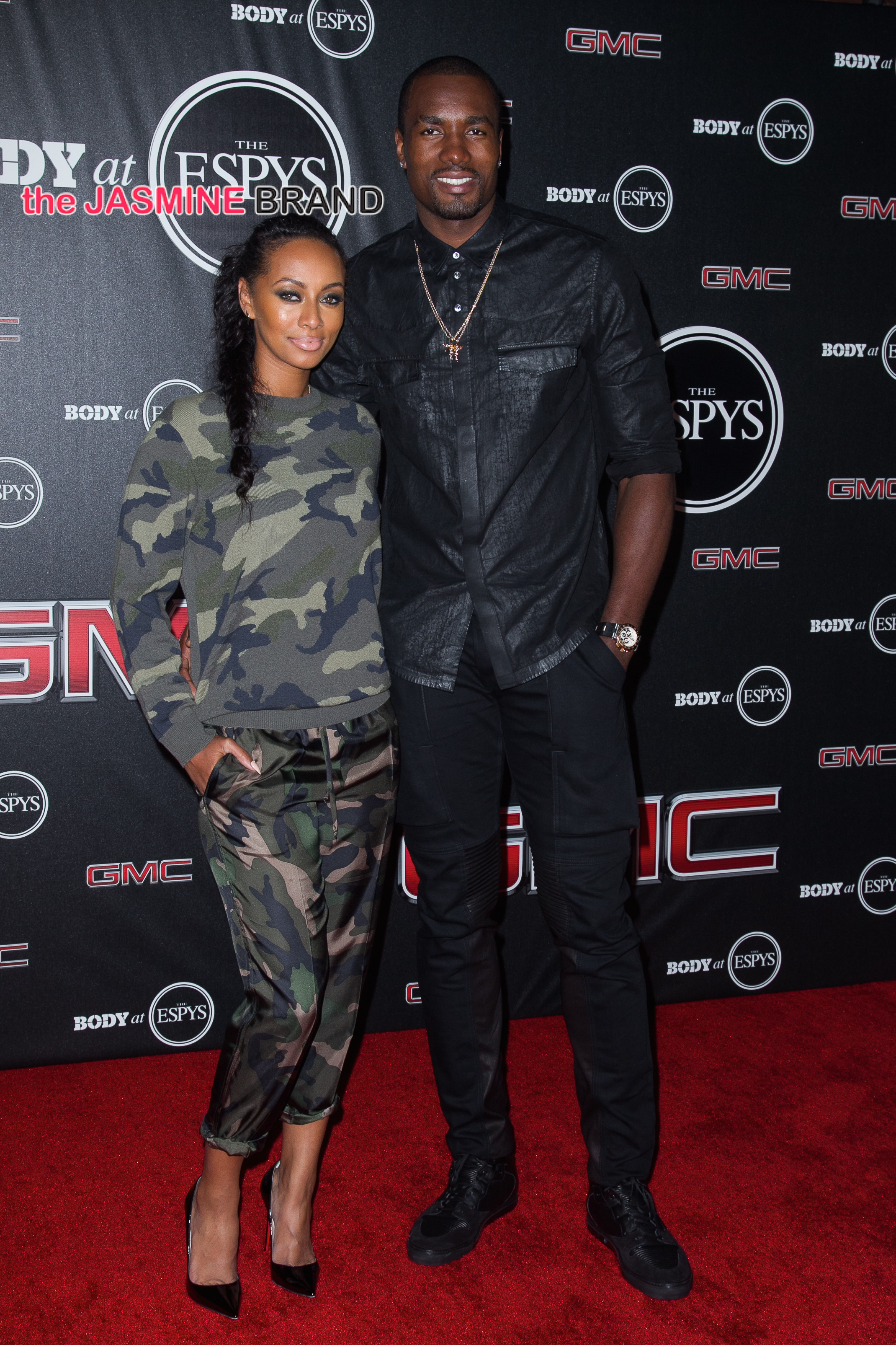 Keri Hilson and Serge Ibaka attend the ESPN's 6th Annual 'Body At ESPYS'