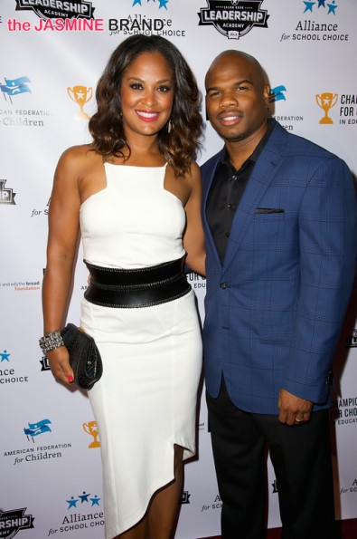 Laila Ali and husband NFL player Curtis Conway 3rd annual Champions for Choice American Federation for Children 2014 the jasmine brandjpg