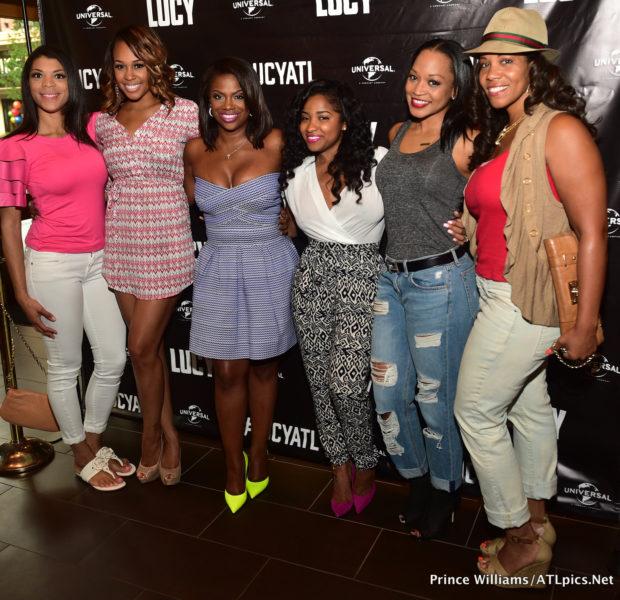 Kandi Burruss, Tameka Raymond, Rasheeda, Singer Nivea Attend Atlanta 'Lucy' Screening