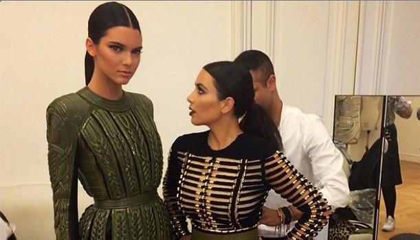 Sister Act: Kim Kardashian & Kendall Jenner Stunt In Balmain