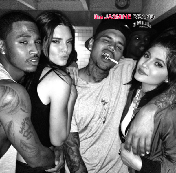 House Party Fun: Chris Brown, Trey Songz, Kendall & Kylie Jenner