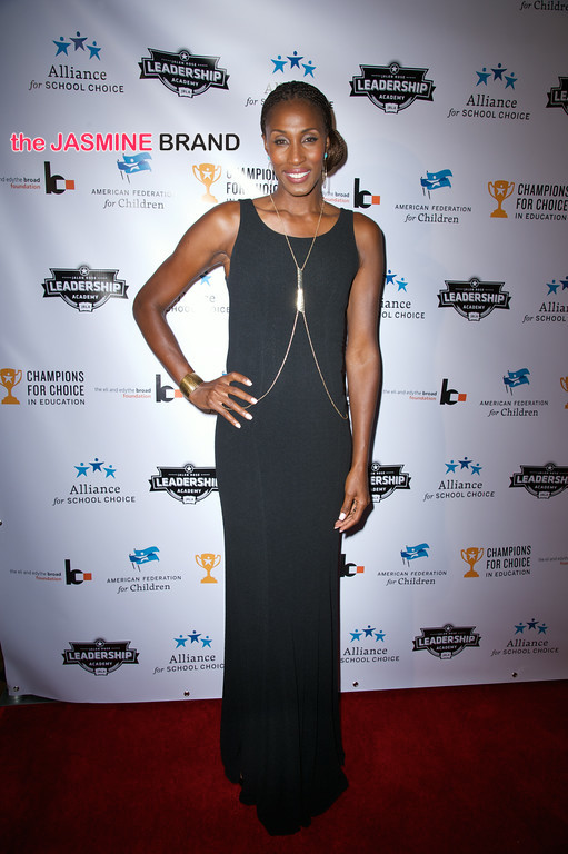 WNBA player Lisa Leslie 3rd annual Champions for Choice American Federation for Children 2014 the jasmine brand