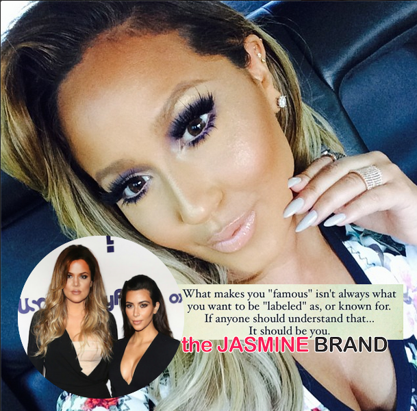 Adrienne Bailon Tells Kim Kardashian: 'Fame & A Career Are Two Separate Things'