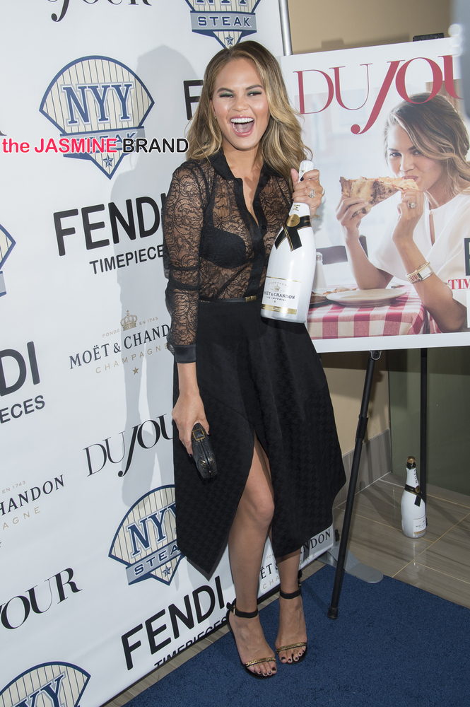 DuJour Magazine Celebrates Chrissy Teigen July Cover in New York City - Arrivals