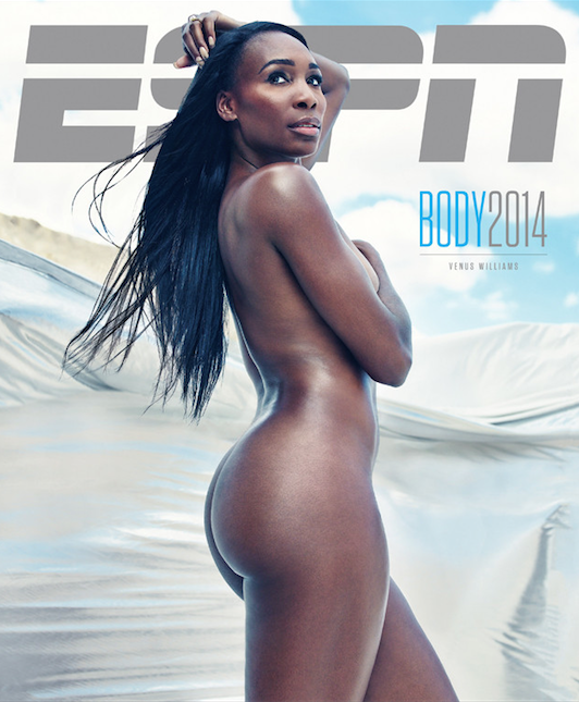 cover venus williams poses nude for ESPN the Magazine the jasmine brand