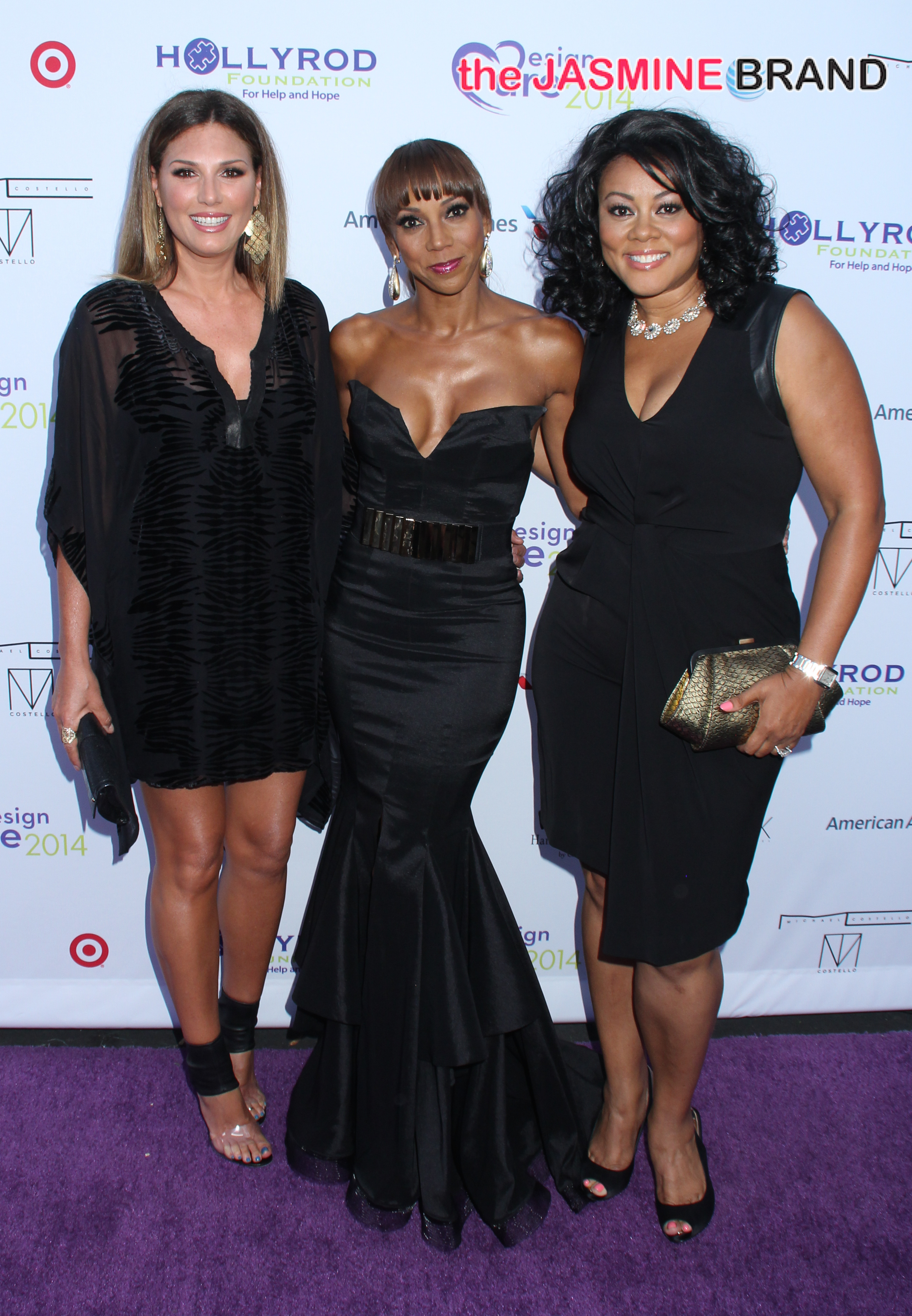 Holly Robinson Peete arrives in a stunning black dress for the 16th Annual Designcare to benefit the Hollyrod Foundation at The Lot Studios in Hollywood, CA