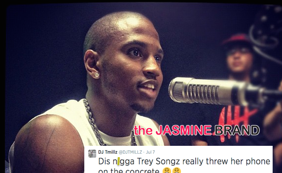 Ear Hustlin' : Did Trey Songz Throw A Fan's Phone For August Alsina Reference?