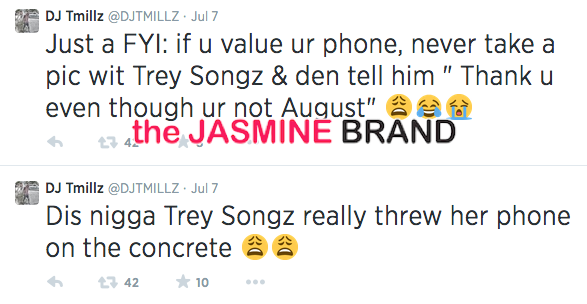 final trey songz allegedly throws fans iphone to ground mentions august alsina the jasmine brand