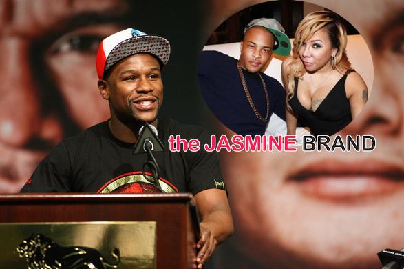 floyd mayweather-during press conference-says he had sex with tameka tiny harris-ti wife-the jasmine brand