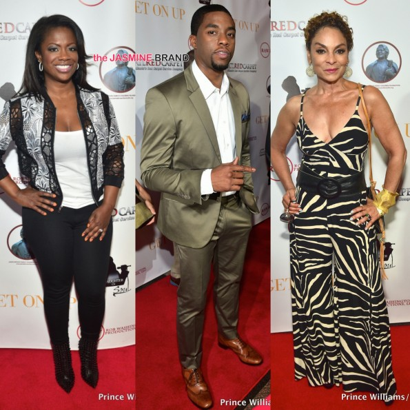 get on up premiere-chadwick boseman-jasmine guy-kandi burruss the jasmine brand