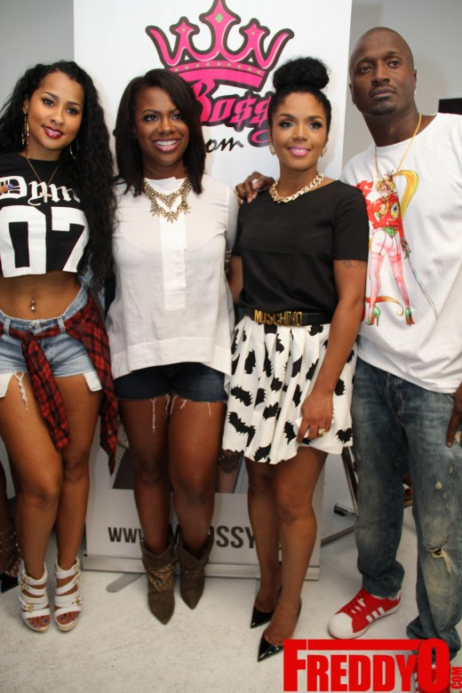 kandi burruss kirk frost LHHA Rasheeda Pop Up Shop Event 2014 the jasmine brand