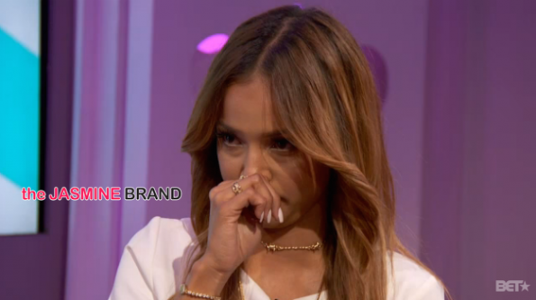 karrueche tran cries when discussing chris brown rihanna drama the jasmine brand