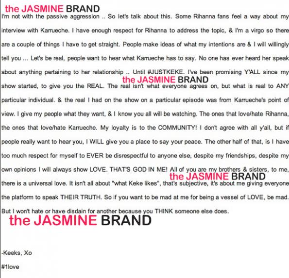 keke palmer pens open letter defends decision to interview karrueche tran the jasmine brand
