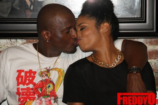 kissy face with kirk frost LHHA Rasheeda Pop Up Shop Event 2014 the jasmine brand