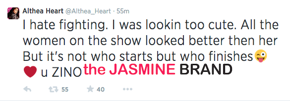 love and hip hop atlanta reunion fight althea the jasmine brand