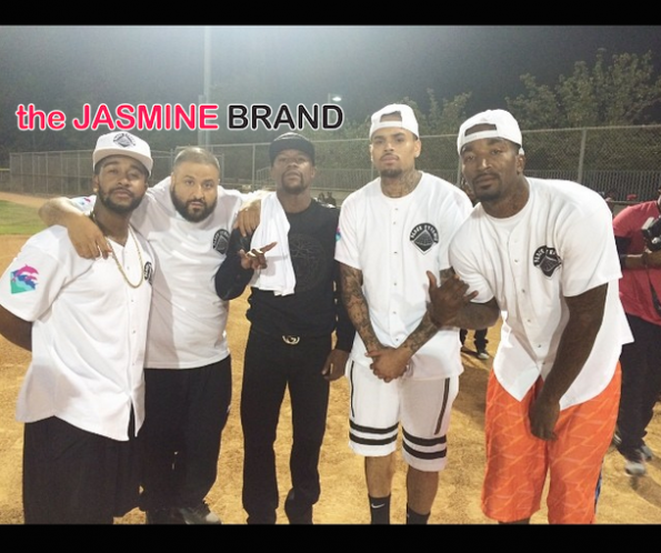 omarion dj khaled chris brown quincy charity kick ball event 2014 the jasmine brand