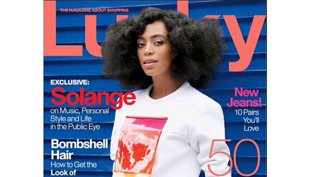 Solange Knowles Covers 'Lucky Magazine' Side Steps Elevator Scandal: 'We all feel at peace.'