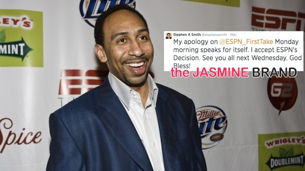 stephen a smith reacts to espn suspension-domestic violence-the jasmine brand