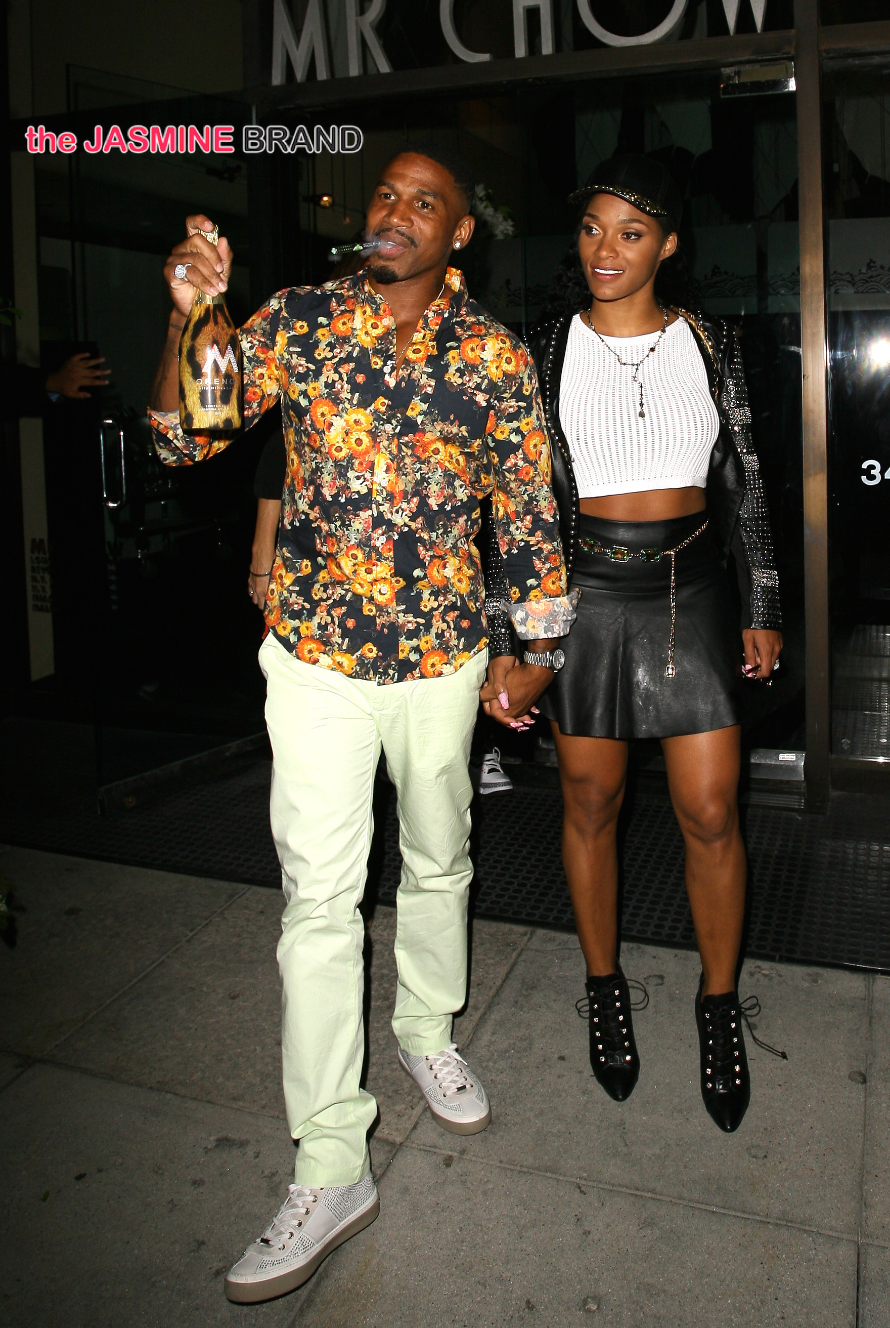 Music producer Stevie J dines out with his wife at Mr.Chow in Beverly Hills, CA
